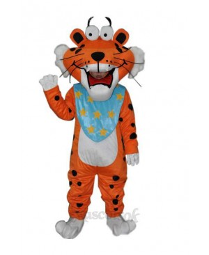 Spotted Funny Tiger Adult mascot costume