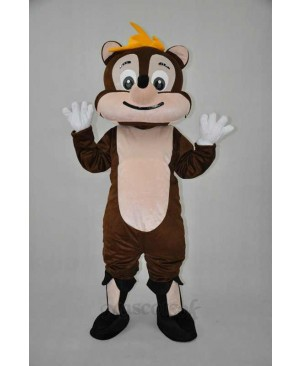 Brown Chipmunk Plush Adult Mascot Costume
