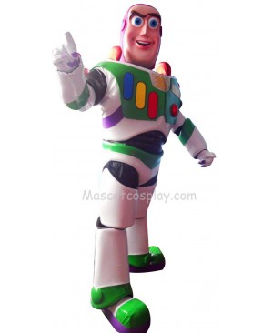 Buzz Lightyear Mascot Character Adult Costume Fancy Dress Outfit