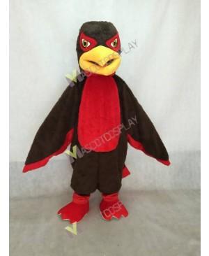 Brown and Red Hawk Falcon Mascot Costume