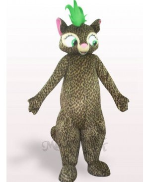 Beautiful Leopard Plush Adult Mascot Costume