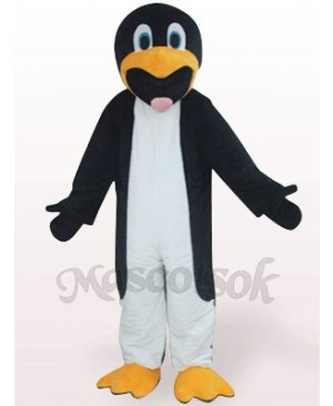 Black And White Slim Penguin Plush Mascot Costume