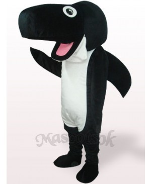 Black Whale Plush Adult Mascot Costume