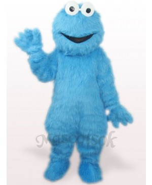 Blue Long Hair Monster Plush Adult Mascot Costume