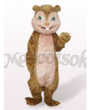 Brown Long Hair Squirrel Plush Adult Mascot Costume