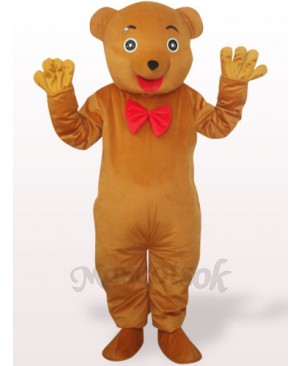 Brownish Yellow Bear Plush Adult Mascot Costume
