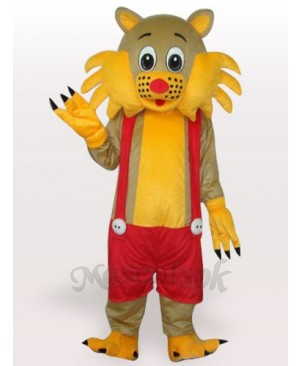 Cat Short Plush Adult Mascot Costume