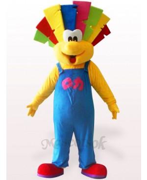 Cute Clown Plush Adult Mascot Costume
