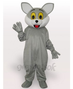Gray Cat Short Plush Adult Mascot Costume