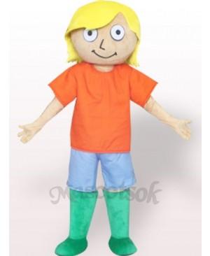 Green Boots Boy Plush Adult Mascot Costume
