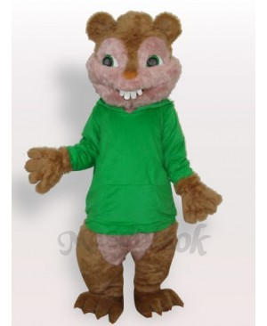 Green Squirrel Plush Adult Mascot Costume