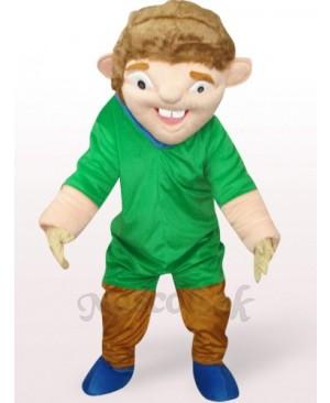 Green Strange Man In Red Clothes Plush Mascot Costume
