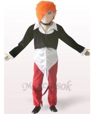 Handsome Boy Plush Adult Mascot Costume