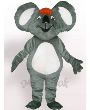 Koala With Orange Hair Plush Adult Mascot Costume