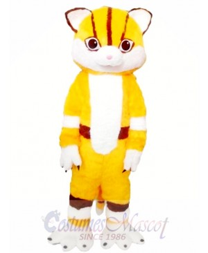 Yellow Cat Mascot Costumes