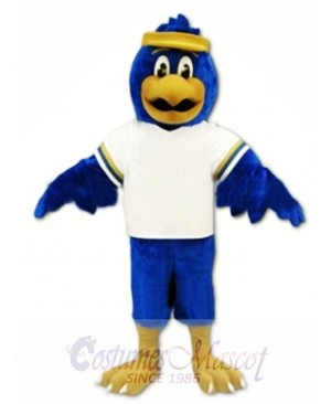Blue Falcon Mascot Costume Character Eagle Bird