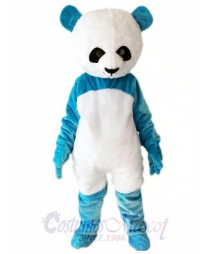 Blue Panda Mascot Costume Christmas