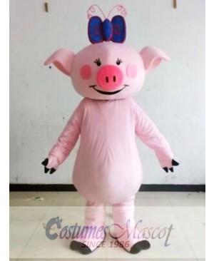 Character Adult Cute Pink Pig Mascot Costume
