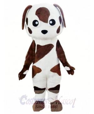 Baby Brown and White St Bernard Dog Mascot Costume
