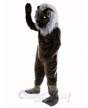 Old Black Lion Mascot Costume