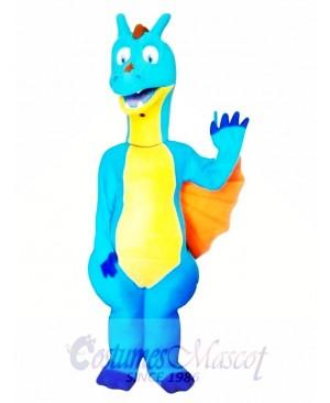 Blue Dragon Mascot Costume Adult Costume