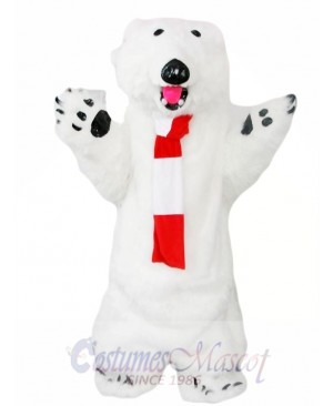 Furry Polar Bear Mascot Costume