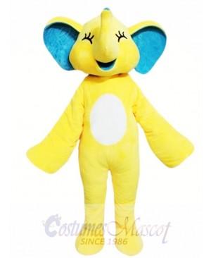 Yellow Elephant Mascot Costume
