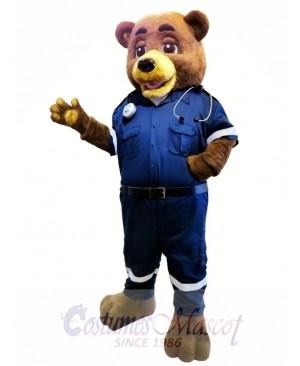 Police Bear Mascot Costume
