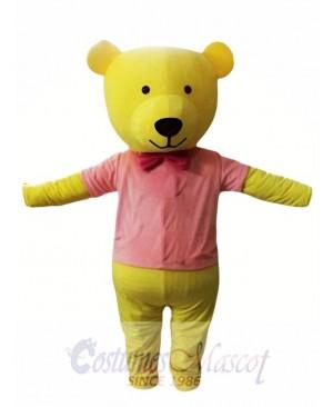 Yellow Bear Mascot Costume