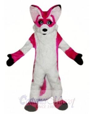 Fursuit Pink Fox Mascot Costume
