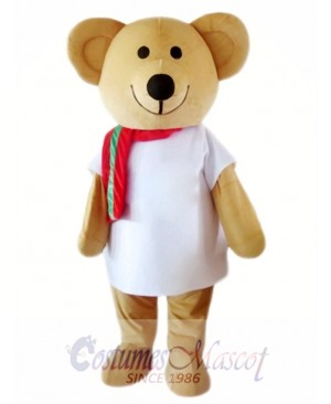 Cartoon Character Brown Bear Mascot Costume