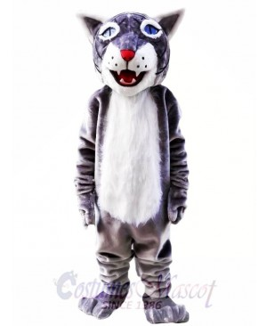 Grey Wildcat Bobcat Mascot Costume