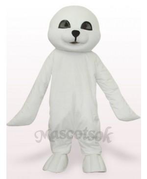 Lovely White Seal Plush Adult Mascot Costume