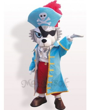 Pirate Wolf Plush Adult Mascot Funny Costume