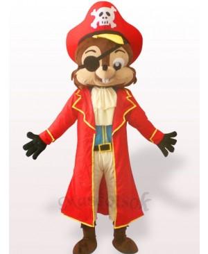 Pirate Squirrel Plush Adult Mascot Costume