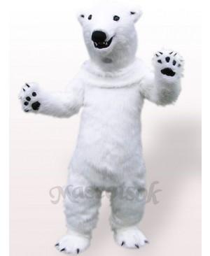 Polar Bear Plush Adult Mascot Costume