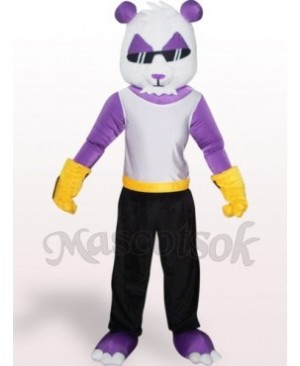 Purple Panda Plush Adult Mascot Costume