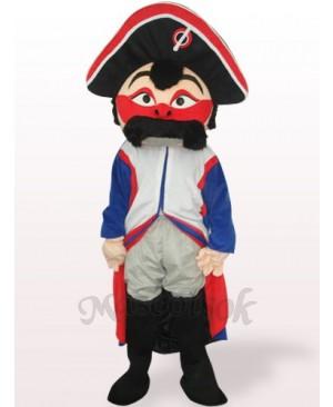 Red Face Pirate Plush Adult Mascot Costume