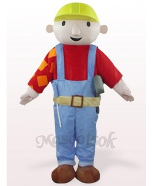 Red Maintenance Worker Bab Plush Mascot Costume