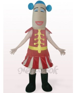 Red Woman Plush Mascot Costume