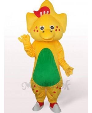 Star Dragon In Yellow Plush Mascot Costume