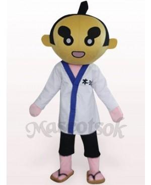 Sumoto People In White Clothes Plush Mascot Costume