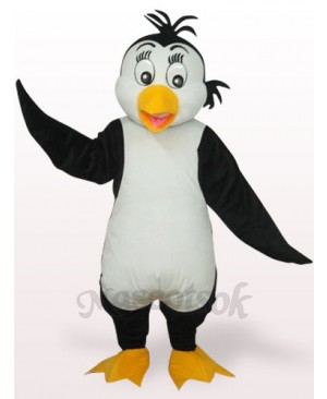 White And Black Cute Penguin Plush Adult Mascot Costume