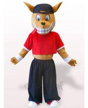 Wood Kangaroo Plush Adult Mascot Costume