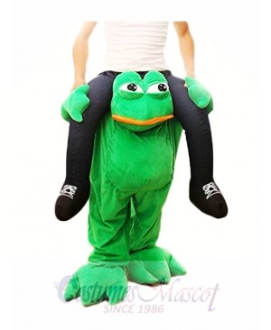 Piggy Back Frog Carry Me Sad Frog Mascot Costume Halloween Fancy Dress