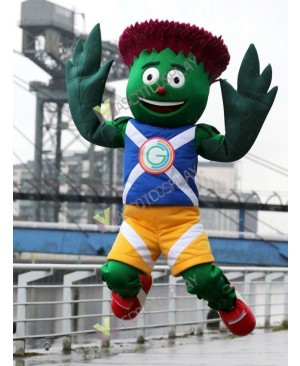 Commonwealth Games Mascot Costume Clyde Thistle Mascot Costume