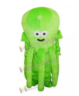 Cute Green Octopus Mascot Costume