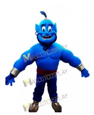 Blue Genie Mascot Costume from Shimmer and Shine
