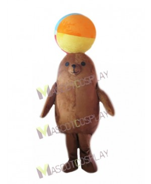 Cute Brown Sea Lion for Aquarium Show Mascot Costume