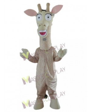 Giraffe with Big Eyes Mascot Costume